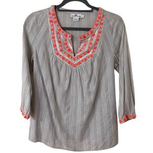 Vineyard Vines Embroidered V-Neck Tunic Top (S)